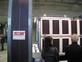 シート状発電装置の壁面設置案